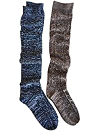 Womens Boot Socks, Knee High Multi-Color in Single & 2 Pack