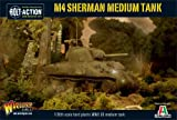 Bolt Action M4 Sherman Medium Tank 1:56 WWII Military Wargaming Plastic Model Kit
