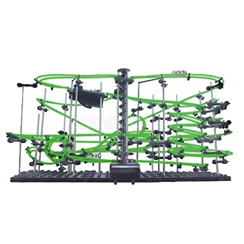 Kids Lv4 Marble Runs DIY Rollercoaster Building Toy-Glows in the Dark by uptogethertek