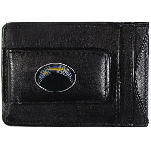 NFL San Diego Chargers Leather Money Clip - Leather San Football Chargers Diego