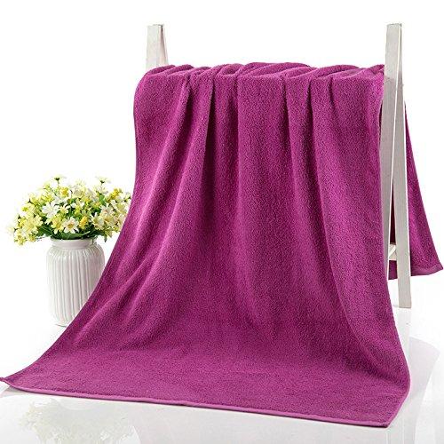 Bath towel cotton bath towels to adult men and women couple absorbent soft single bath towel, Purple by TDLC