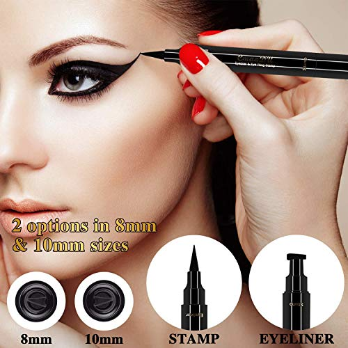 Eyeliner Stamp-2 Wingliner Black Make Up Pens,Waterproof Make Up,Smudgeproof,Winged Long Lasting Liquid Eye liner Pen,Vamp Style Wing,Eyeshadow,No Dipping Perfect Cat Eye Look,2 Pens in a Pack