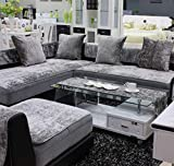 3-Solem Modern Ice Velvet Sofa Slipcover, Couch Cover, Furniture Protector, Loveseat Slipcovers, Recliner Covers, Armchair Cover, Multi-Size Customized Size, Gray (Gray, 24' W x 24' L (60x60cm))