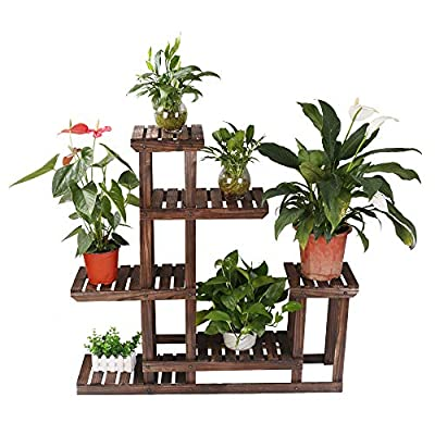 eclife Wooden Plant Stands Multifunctional Bamboo Stand Rack Bookrack Storage Shelves