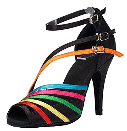 Tda Femmes Cheville Sangle Boucle Peep Toe Mode Salsa Tango Salle De Bal Latine Moderne Danse Chaussures De Mariage 10 Cm Talon Noir