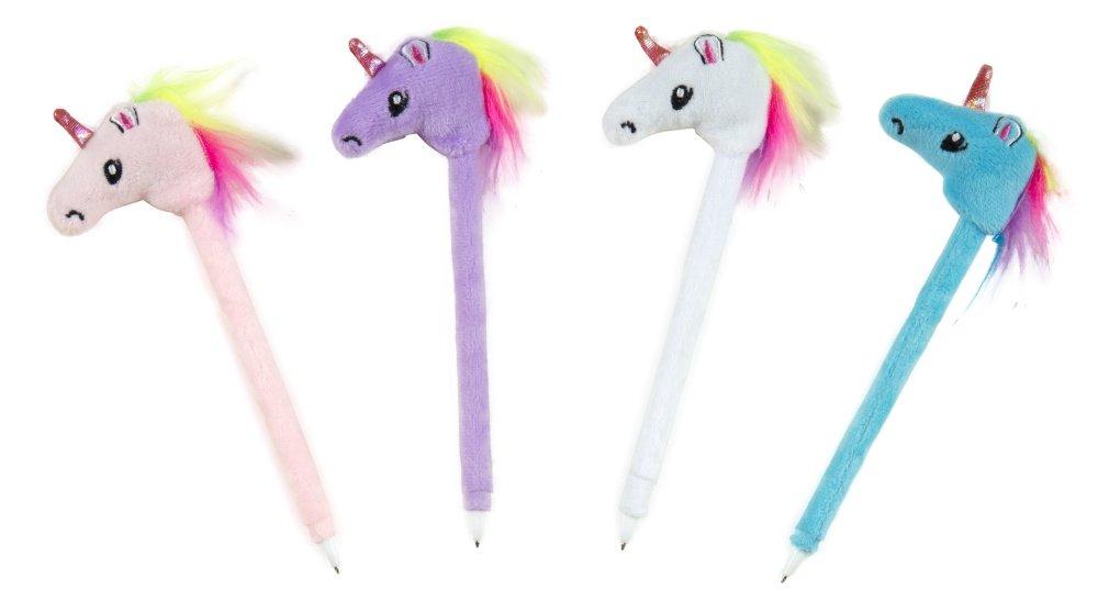 Raymond Geddes Unicorn Plush Pen 12/Dsp Ballpoint Pen (70673)