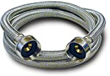 Kissler & Company Inc. 88-3096 Braided Washing Machine Connector, 3/4-Inch by 3/4-Inch, Stainless Steel