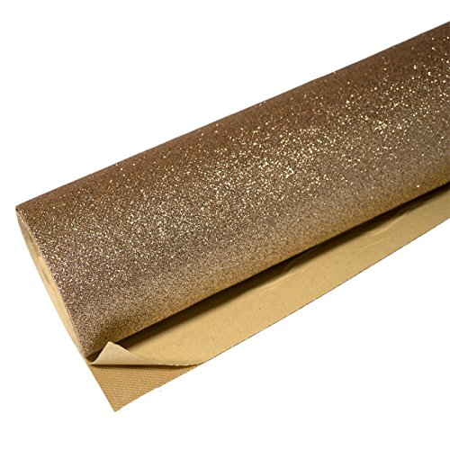 """Self Adhesive Glitter Wall Paper for Walls Covering Peel and Stick Roll Decor Art Craft Fabric 17.7""""X200"""" (Champagne)"""