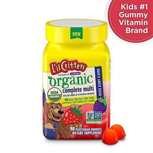 L'il Critters Organic Complete Multivitamin Gummies for Kids, 90 Count - Non-GMO, Gluten-Free, No Gelatin, No HFCS