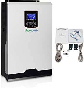 POWLAND 110Vac 2400W 24V Solar Power Inverter 80A MPPT Solar Charger 60A Battery Charger