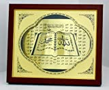 Islamic Wood tabletop frame Names of God / Home decorative # 1842