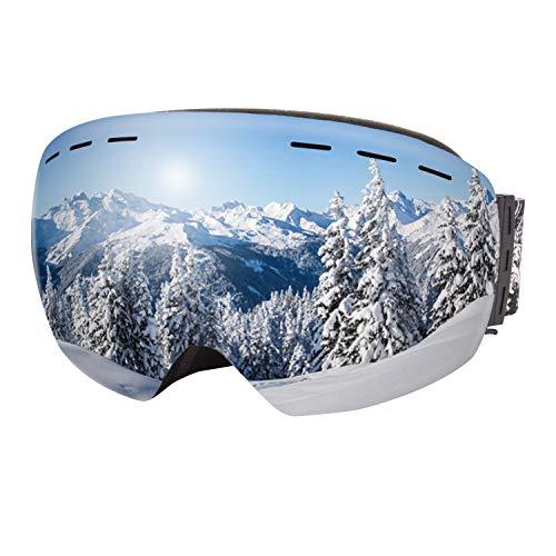 Dracarys Lunettes de Ski Anti-buée Protection UV sans cCadre Objectif Interchangeable sur Les Lunettes Compatible avec Le Casque Lunettes de Snowboard pour Hommes Femmes