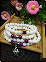 Yosoo 108 Tridacna Buddhist Meditation Prayer Bead Mala Necklace Bracelet