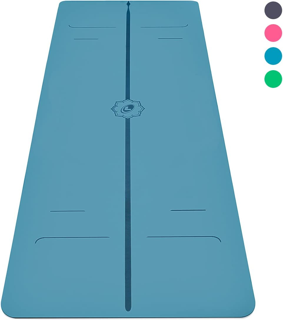 Liforme Evolve Yoga Mat – The World s Best Eco-Friendly, Non Slip Yoga Mat with The Original Unique Alignment Marker System. Biodegradable Mat Made with Natural Rubber A Warrior-Like Grip