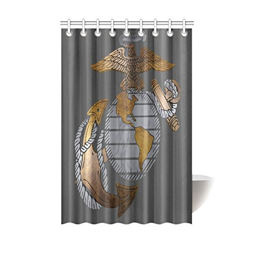 New Year Gifts Thanksgiving Day USMC United States Marine Corps Waterproof Bathroom Decor Fabric Shower Curtain Polyester 48 X 72 Inches