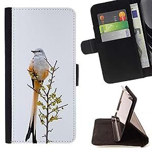 - tail bird grey winter ornithology feathers - - Prima caja de la PU billetera de cuero con ranuras para tarjetas, efectivo desmontable correa para l Funny HouseFOR Sony Xperia Z1 Compact D5503