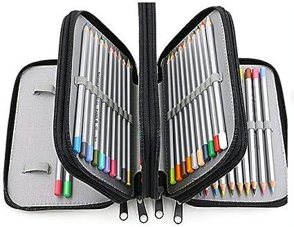 Estuches de gran capacidad para la escuela/la universidad/Uni Pen Estuches de lápices con cremallera Papelería Bolsa bolsa: Amazon.es: Oficina y papelería