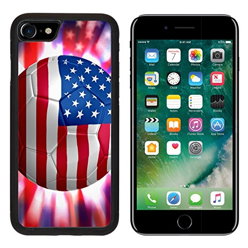 Luxlady Apple iPhone 7 iPhone 8 Aluminum Backplate Bumper Snap iphone7/8 Case IMAGE ID: 29652906 USA Soccer world cup