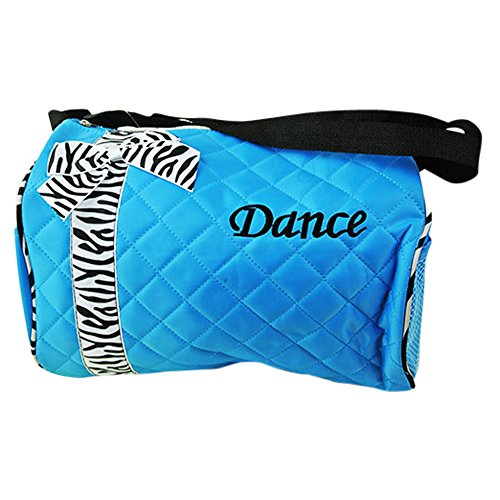 Boogie Shoes Dance Costumes (Girls Toddler Ballet Sports Gym Duffel Dance Bag Backpack (Blue Dance))