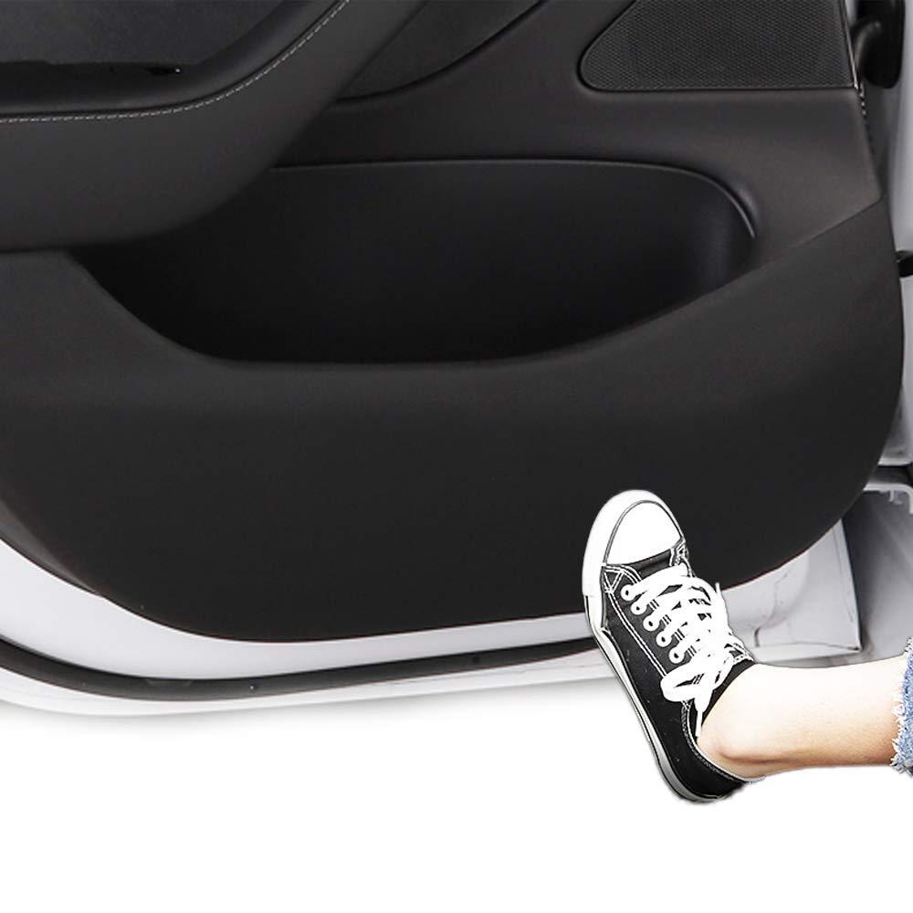 BASENOR Tesla Model 3 Door Protector Anti-Kick Mat Leather Matte Black Set of 4