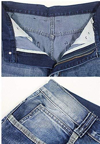 Hop Uomo Con Larghi Pantaloni Hip Hip Abbigliamento Stampa Stile Denim hop In Casual Streetwear Da Adelina Colour Oversize Jeans Iw4qfI
