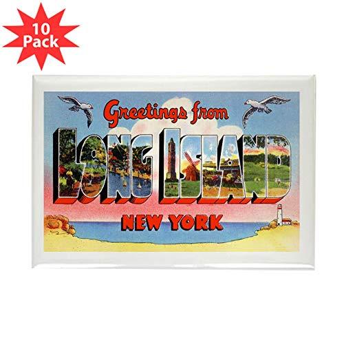 CafePress Long Island New York Greetings Rectangle Magnet (1 Rectangle Magnet, 2