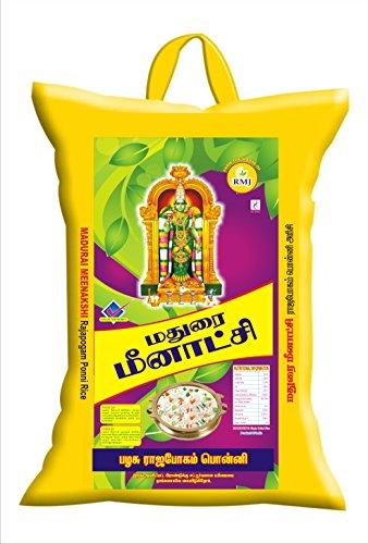 RAMAJEYAM Premium Rice Madurai Meenkashi R3 Sona Masuri Rajabhogam Ponni Boiled Rice 10 Kg