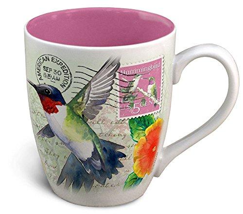 Vintage Bird Series 14oz Stoneware Coffee Mug (Hummingbird -
