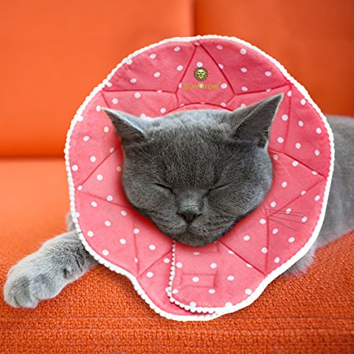 SunGrow Pet Cute Comfy Cone - Post Surgery Stress-Free Recovery Collar - Durable, Scratch-, Bite-,...