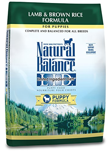 Natural Balance Puppy Formula L.I.D. Limited Ingredient Diets Dry Dog Food, Lamb & Brown Rice Formula, 12-Pound