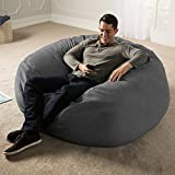 Jaxx 5 Foot Saxx - Big Bean Bag Chair for Adults, Charcoal