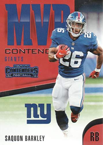 2018 Panini Contenders Football MVP Contenders #MVP-21 Saquon Barkley New York Giants