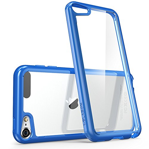 iPod Touch 6th Generation Case, [Scratch Resistant] i-BlasonClear [Halo Series] for Apple iTouch 5/6 Hybrid Bumper Case Cover (Clear/Navy)