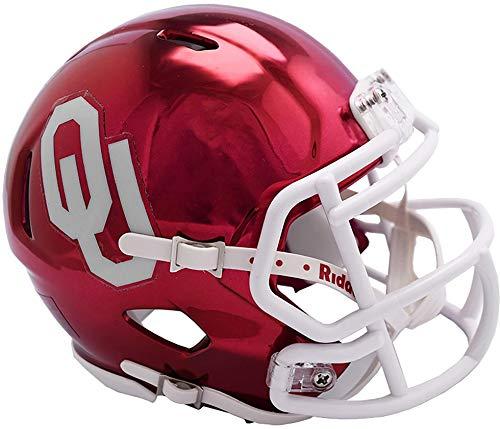 Sports Memorabilia Riddell Oklahoma Sooners Chrome Alternate Speed Mini Football Helmet - College Mini Helmets