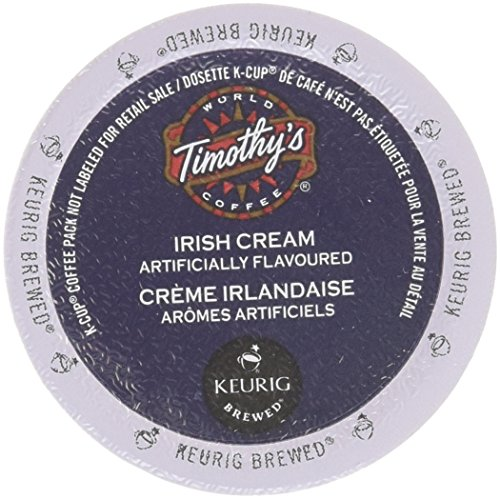 Timothy's World Coffee * IRISH CREAM * 24 K-Cups for Keurig Brewers (Smooth Coffee Cream)