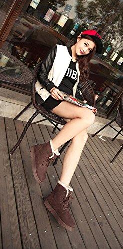 Morbide Morbide Marrone Scarpe da Stivaletti Calde Pelliccia Donna Stivali Stivali Invernali Stivali Paragon Scarpe Neve xnSZ7Pwq