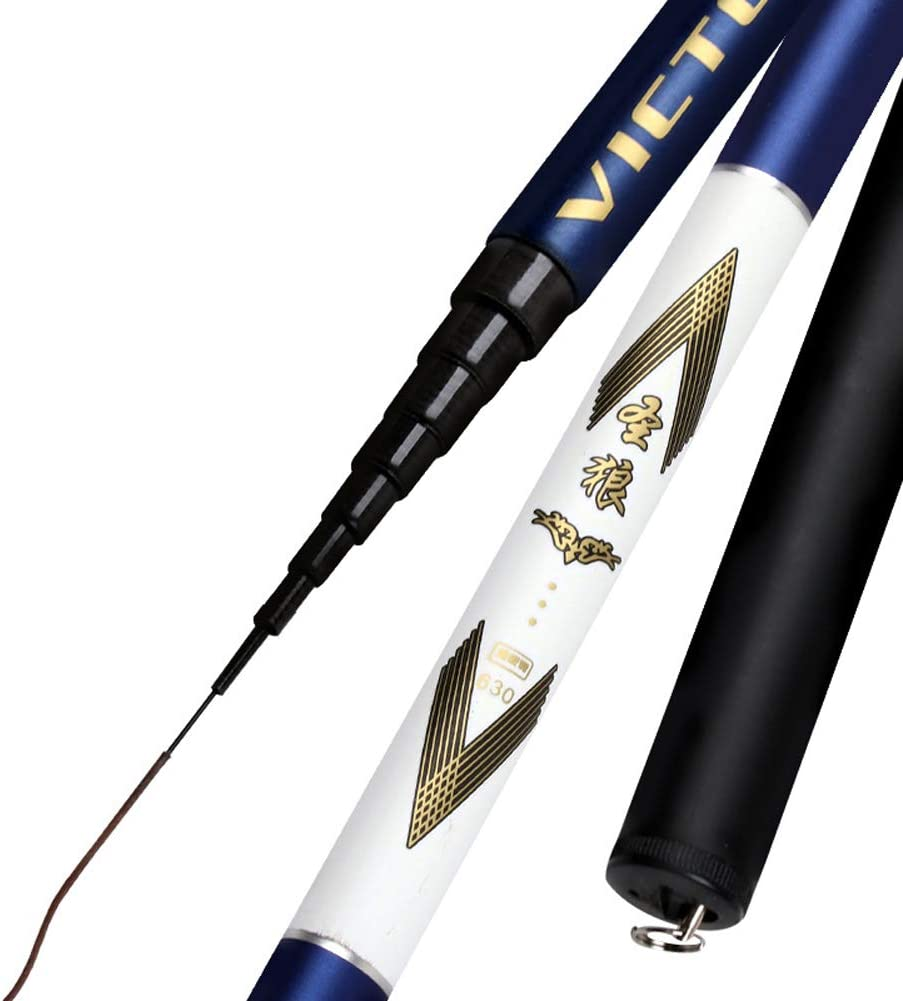 MJLXY Teleskop-Carbon-Angelrute 2.7-7.2 m Harte Pole Tragbare Karpfen-S/ü/ßwasser-Stange Ultraleicht Spinnrute Fishing Rod