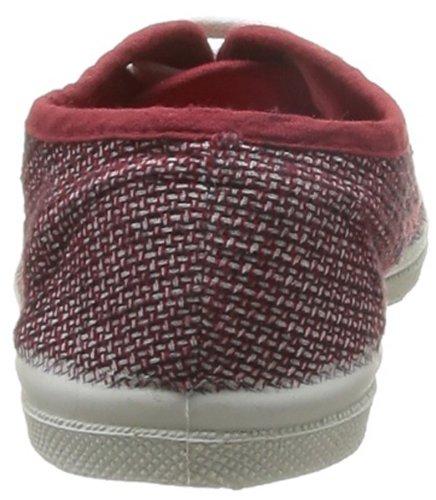 Bensimon Tennis Fancy Linen - Zapatilla baja Unisex Niños Rojo (Rouge (Rouge 310))