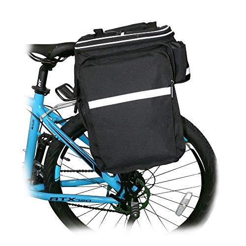 Bike Rear Bag Cycling Rack Rear Bag Zipper Pockets Bottle Case Bike Accessories for Road Mountain Bikes Black by Bicycleer (Image #5)