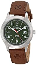 Timex Men's T40051 Expedition Metal Field Brown Leather Strap Watch