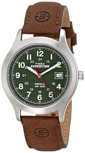 Timex Men's T40051 Expedition Metal Field Brown Leather Strap Watch (Expedition Watch Quartz)