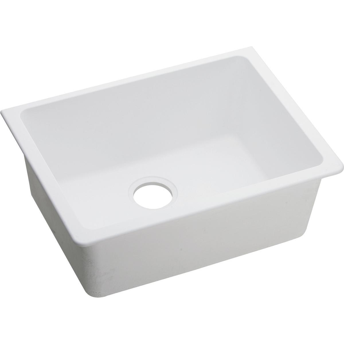 Elkay Quartz Classic ELGU2522WH0 Single Bowl Undermount Sink, White by Elkay (Image #3)