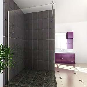 Serina - Mampara para ducha (200 x 120 cm x 10 mm, cristal endurecido con nano-recubrimiento)