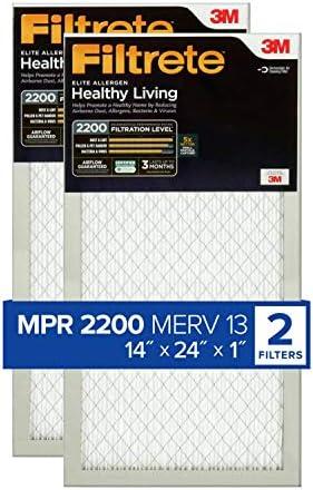 Filtrete EA23Stutzen–2pk-6e Reduzierung AC Ofen Air Filter, 14x 24x 1, 2er Pack