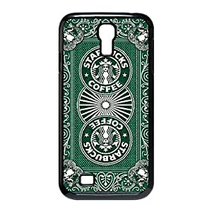 Bloomingbluerose Starbucks Coffee Samsung Galaxy S4 Cases Starbucks Poster, [Black]