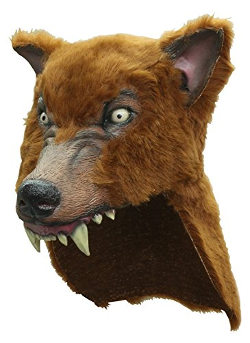 Brown Latex Faux Wolf-Skin Costume