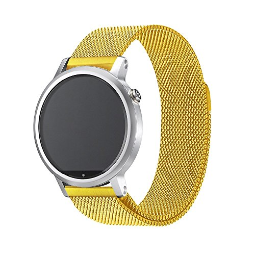 Quick Release Watch Band 20mm Milanese Loop Strap Magnetic Clasp Closure Lock Steel Replacement Bracelet Men Women 18mm 20mm 22mm Gold