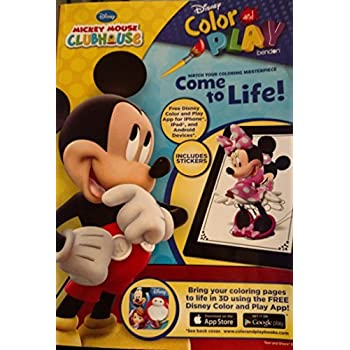 Disney Mickey Mouse Clubhouse Color Play Includes Stickers