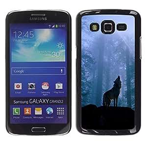 Exotic-Star ( Nature Howling Wolf ) Fundas Cover Cubre Hard Case Cover para Samsung Galaxy Grand 2 II / SM-G7102 / SM-G7105