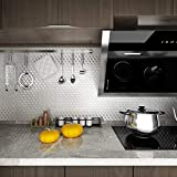 Livelynine Kitchen Wallpaper Silver Stainless Steel